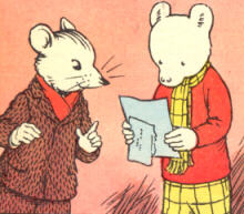 Rupert Bear and Willy Mouse