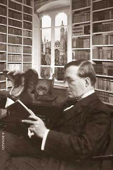 Montague Rhodes James in his study