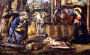 In The Stable. by Pinturicchio painted ca.1492-94